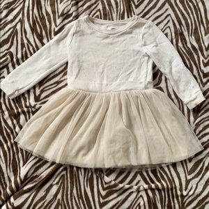 Old Navy 4T off white long sleeve dress